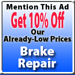 Brake Repair Special Offer